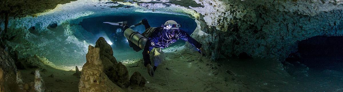 cenote and cave diving, training, support